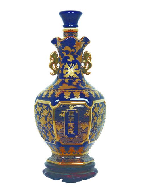 京华陶瓷烤花酒瓶