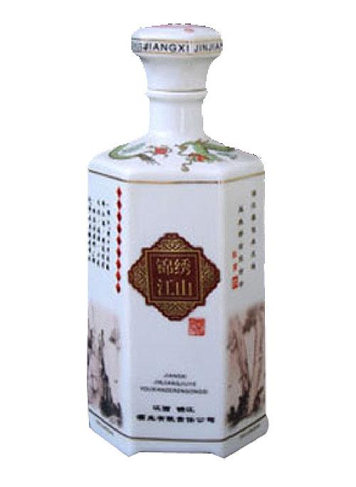 锦绣江山陶瓷酒瓶