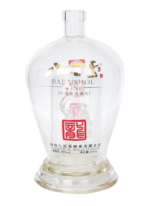 高档玻璃烤花酒瓶