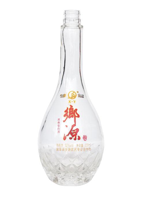 优质烤花玻璃酒瓶