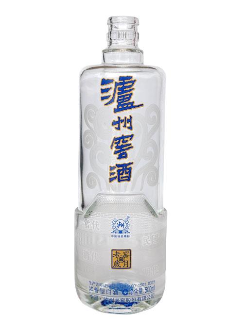 泸州老窖烤花玻璃瓶