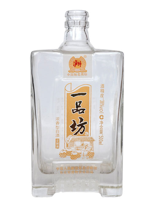 泸州一品坊烤花玻璃酒瓶