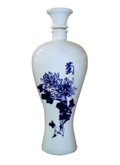 定制青花乳白玻璃瓶