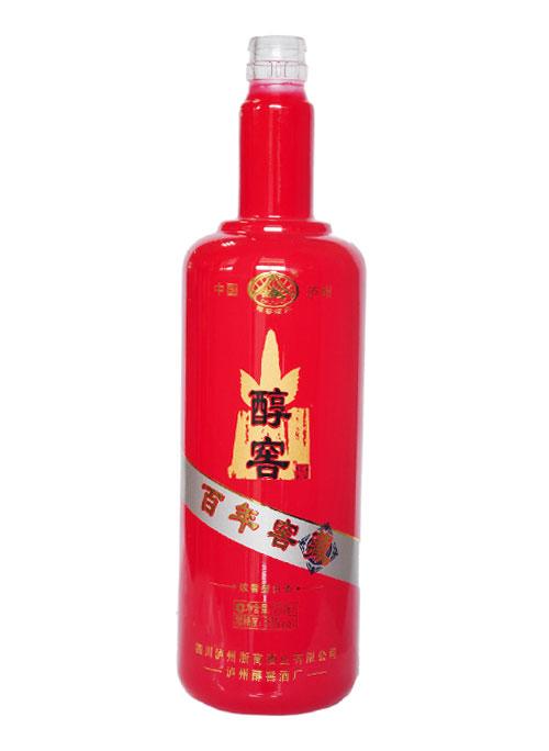 百年醇窖喷釉玻璃酒瓶