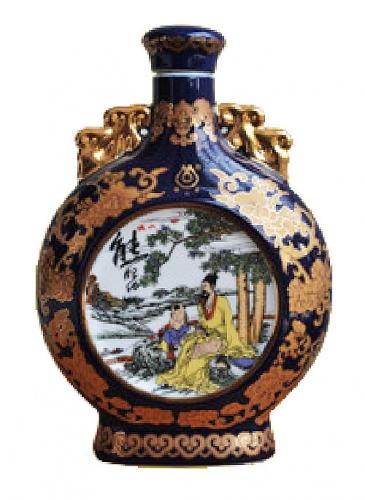 烤花陶瓷酒瓶