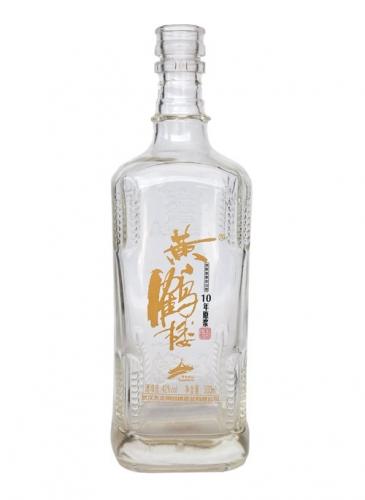 烤花晶白玻璃酒瓶