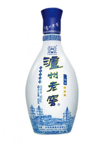 泸州老窖乳白玻璃酒瓶