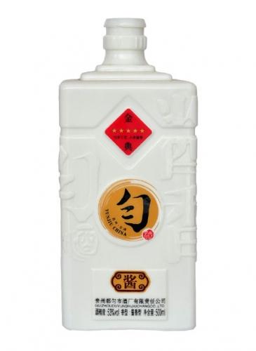 高档乳白玻璃酒瓶