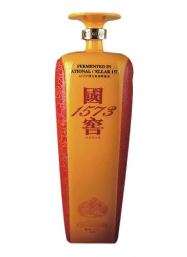 国窖1573彩釉玻璃酒瓶