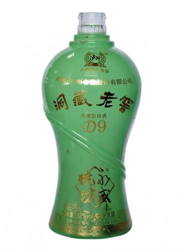 泸州老窖烤花玻璃酒瓶